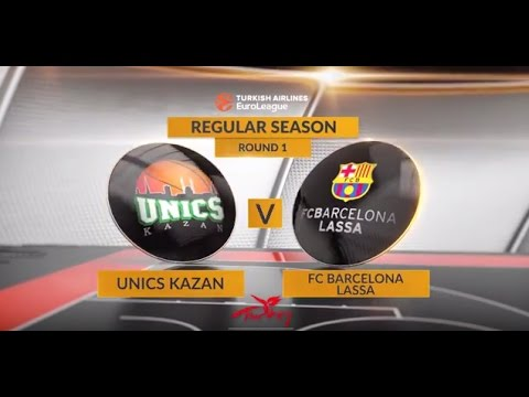 EuroLeague Highlights RS Round 1: Unics Kazan 63-69 FC Barcelona Lassa