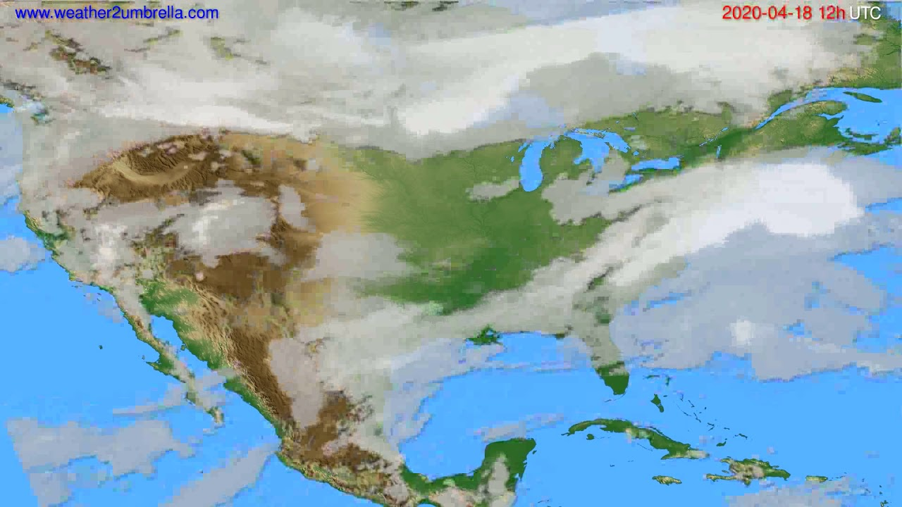 Cloud forecast USA & Canada // modelrun: 00h UTC 2020-04-18