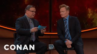 When it comes to comic books, superhero movies, sci-fi, fantasy and all things Comic-Con®, there is literally no bigger expert than Conan O'Brien.More CONAN @ http://teamcoco.com/videoTeam Coco is the official YouTube channel of late night host Conan O'Brien, CONAN on TBS & TeamCoco.com. Subscribe now to be updated on the latest videos: http://bit.ly/W5wt5DFor Full Episodes of CONAN on TBS, visit http://teamcoco.com/videoGet Social With Team Coco:On Facebook: https://www.facebook.com/TeamCocoOn Google+: https://plus.google.com/+TeamCoco/On Twitter: http://twitter.com/TeamCocoOn Tumblr: http://teamcoco.tumblr.comOn YouTube: http://youtube.com/teamcocoFollow Conan O'Brien on Twitter: http://twitter.com/ConanOBrien
