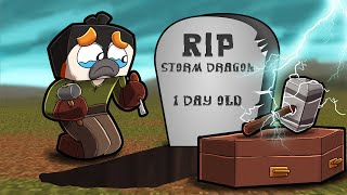 Who KILLED my Baby Storm Dragon? (Minecraft Dragons)