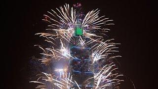 2016 101 跨年 煙火 TAIWAN TAIPEI  FIREWORKS  少煙版 by louisch 陳志通 4K 1080P