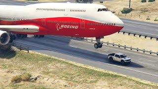 "Video GTA5 - Giant Air Plane ""Emergency Landing"" on Highway -- Two Engines Failed  -- (This is from GTA 5) MP3, 3GP, MP4, WEBM, AVI, FLV Mei 2019"