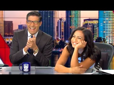 News anchor makes a Chewbacca sound and the news team loses it
