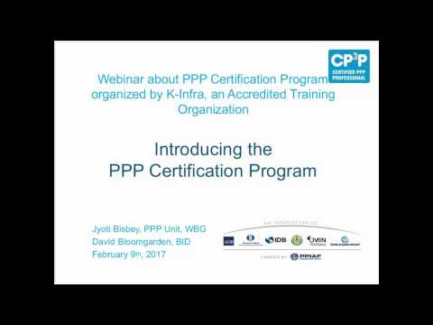 Introduction to the PPP Certification Program