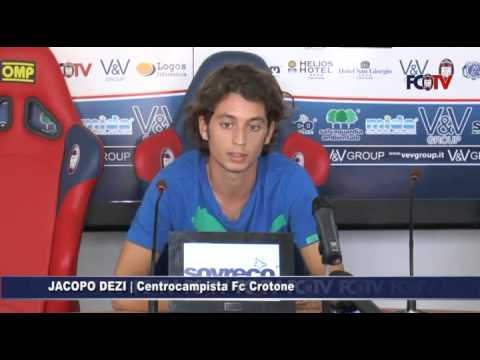 Fc Crotone, Jacopo Dezi in conferenza