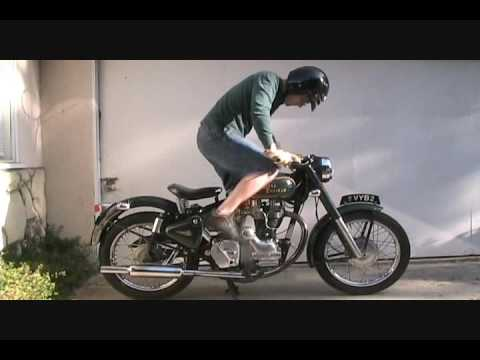 How to start a Royal Enfield Bullet 500 motorcycle