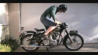 9. How To Kick Start A Royal Enfield Bullet 500 Classic Motorcycle With An Amal 930 Carb