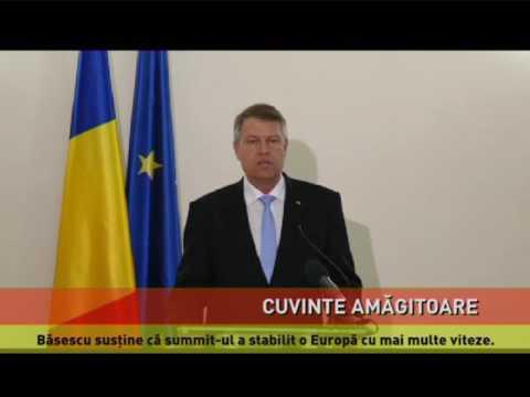 """Traian Băsescu critică """"Declarația de la Roma"""""""