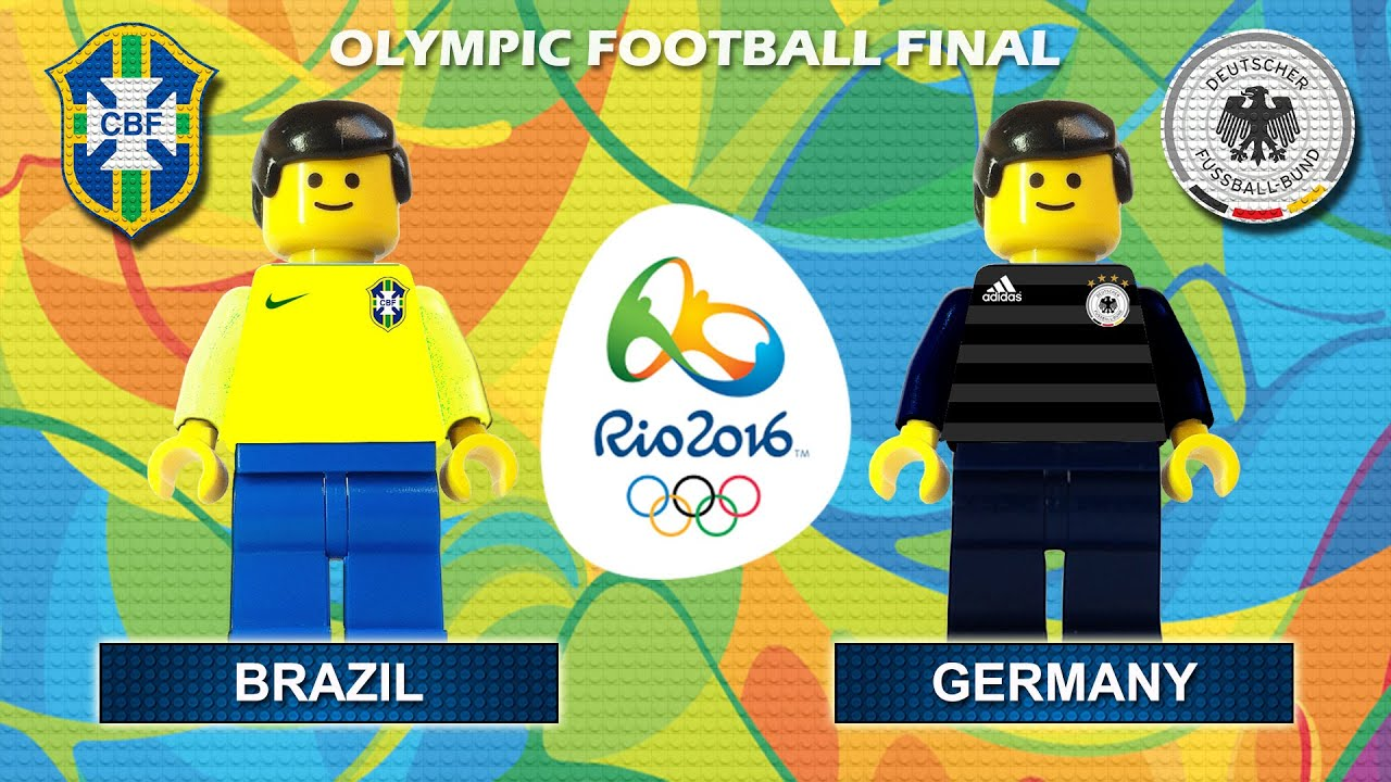 Rio 2016 Olympic Football Final : Brazil vs Germany ( gold medal Rio2016 ) Film in Lego Football