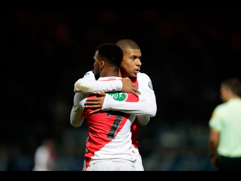 Chambly 4-5 AS Monaco : les buts de Mbappé, Lemar, Glik...- AS MONACO