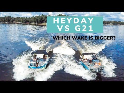 Spine wave wake surfing / Boat comparison: Heyday vs Nautique G21