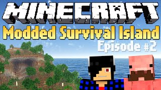 Exploring the Island! [Minecraft Modded Survival Island #2]