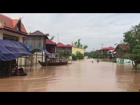 Καμπότζη: Τεράστιες καταστροφές λόγω πλημμυρών