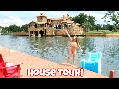 New House Tour! Our Summer Vacation Lake House Tour Kids, Family, Fun!