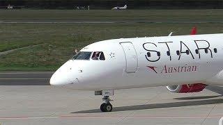 Austrian Airlines OS 252 Frankfurt Airport - Graz Airport 08.07.2017 Departure: 08.35 Arrival: 09.55 Landing Graz Airport  GRZ  LOWG Runway 35C, 3000m x 45...