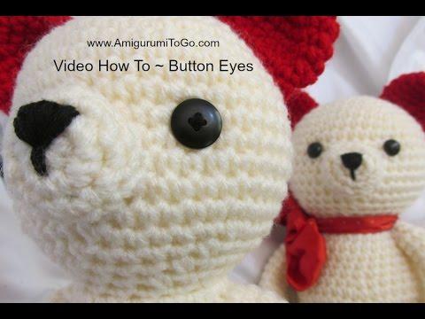 Amigurumi Button Eye Tutorial