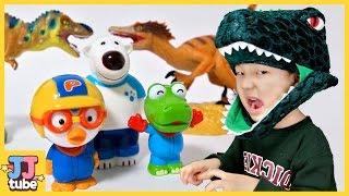 뽀로로 스티커가방 공룡 스티커 놀이북 장난감 놀이 Pororo Dinosaur Stickerbook Toy & Play [제이제이튜브  - JJtube]
