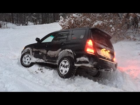 Subaru Forester Off Roading - Snow Hooning January 2015 (видео)