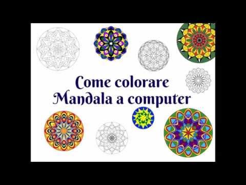 colorare un mandala con il computer - tutorial