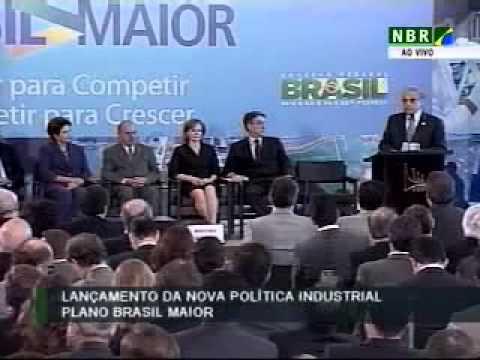 Robson Braga de Andrade fala no lançamento do Plano Brasil Maior