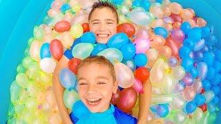 Video On remplit une piscine avec 1500 bombes à eau ! - Zuru Bunch O Balloons Pool - 1/2 MP3, 3GP, MP4, WEBM, AVI, FLV September 2017