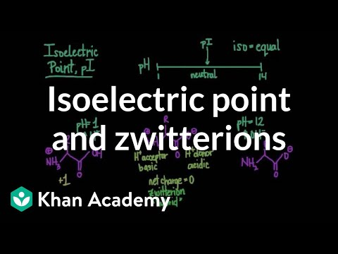 Isoelectric point and zwitterions | Chemical processes | MCAT | Khan Academy