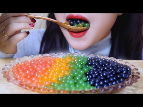 ASMR Popping Boba (frog Eggs) EXTREMELY SOFT EATING SOUNDS | LINH ASMR