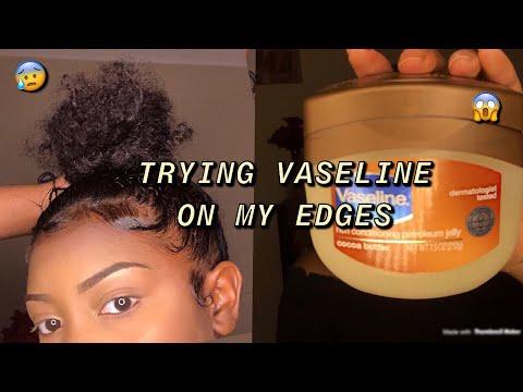 USING VASELINE ON MY EDGES?? Is it worth it? | Liyah Joinee|