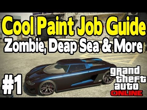 job - GTA ONLINE AWESOME PAINT JOB GUIDE. Today, I show you guys 6 awesome Paint job customizations in Grand Theft Auto Online. There are a lot more to come so I h...