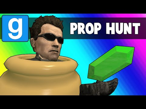Gmod Prop Hunt Funny Moments - Ohmwrecker's Teleporter Troubles (Garry's Mod)