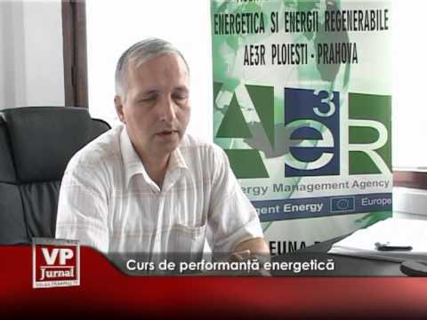 Curs de performanţă energetică