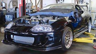 Toyota Supra Intercooler + Bumper MOUNTED! (update) by TJ Hunt