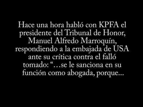 """Video. """"Sobre la sanción a Yassmin Barrios (27 abr 2014)"""""""