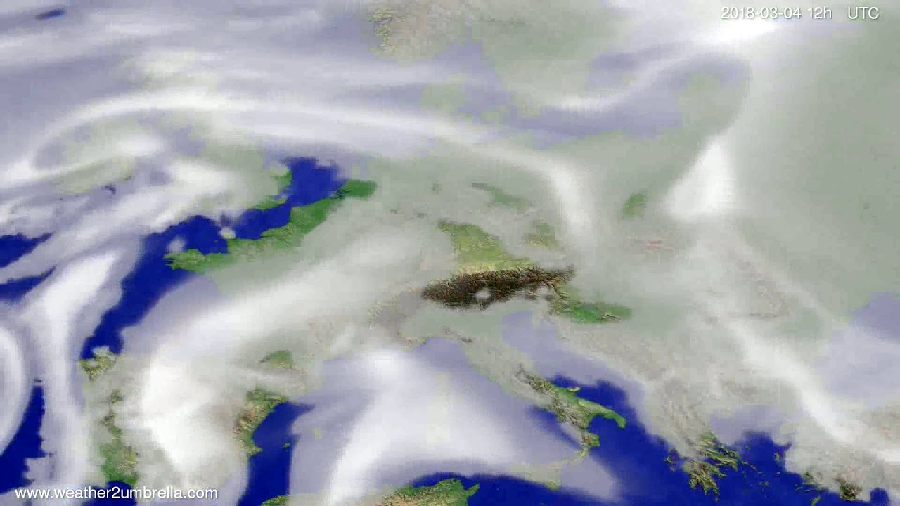 Cloud forecast Europe 2018-02-28