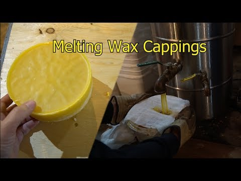 Melting my beeswax cappings