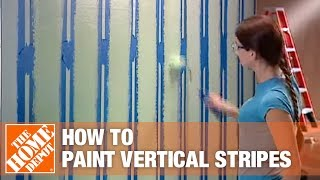 How To Paint Vertical Stripes | The Home Depot