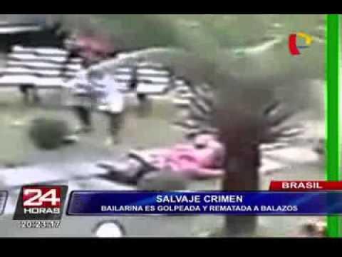لحظة مقتل أشهر مشجعة برازيلية في الطريق العام على يد صديقها
