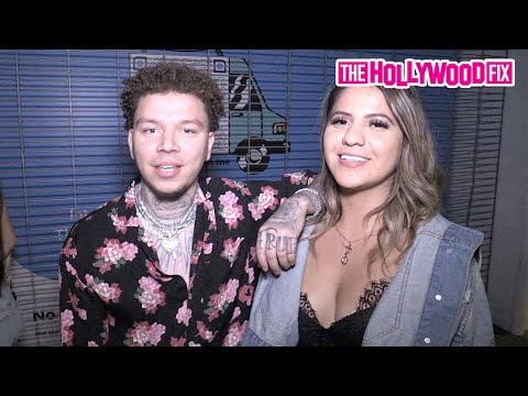 Phora & Brandon Awadis's Ex-Girlfriend Jackie Figueroa Flirt Together At His Album Release Party