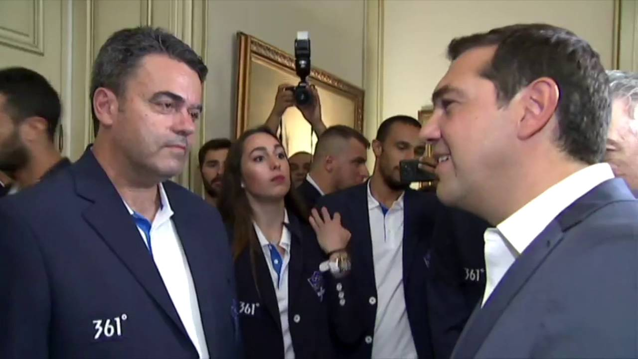 Η Ελληνική Ολυμπιακή ομάδα στο Μέγαρο Μαξίμου