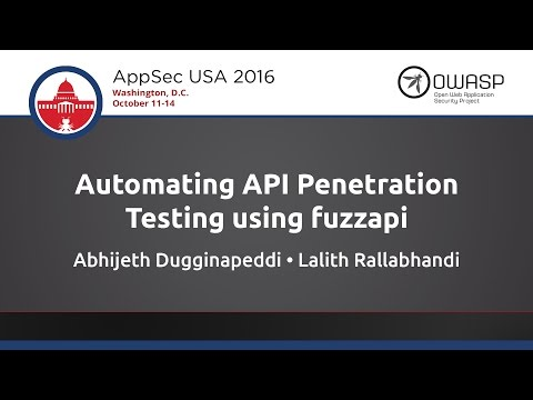 Automating API Penetration Testing using fuzzapi