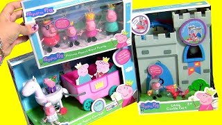 Video Princess Peppa Pig Toys Collection Royal Family, Peppa's Carriage, Sir George the Knight Castle Fort MP3, 3GP, MP4, WEBM, AVI, FLV Oktober 2017