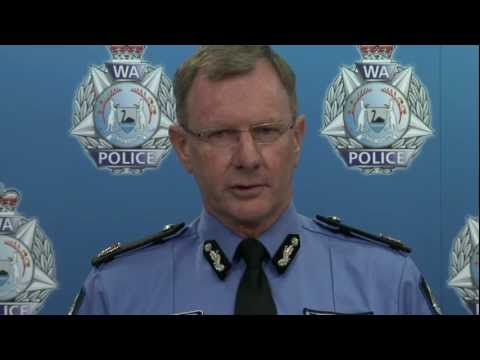 Assistant Commissioner Gary Budge, WA Police - Announcement of 'Post-It Notes' speed campaign