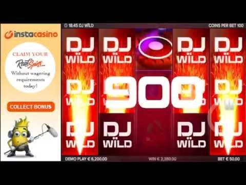 InstaCasino - DJ Wild slot review! Mega Big Win!