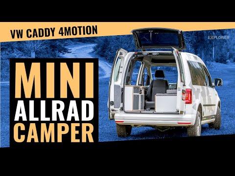 Minicamper VW Caddy 4x4 im Test 👆 Auch so klein kann man offroad reisen!