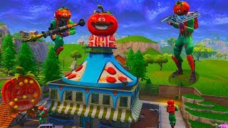 *Pizza Delivery* TOMATO HEAD Challenge in Fortnite Battle Royale (TOMATO TOWN)