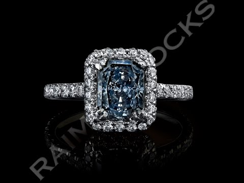 1.55ct Natural Fancy Grey Blue Diamond Engagement Ring by Raiman Rocks