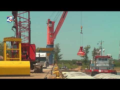 Intensa actividad en el puerto de Paysandú en los primeros días del año