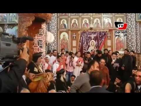 البابا تواضروس يزور كنيسة «ملوي» بالمنيا