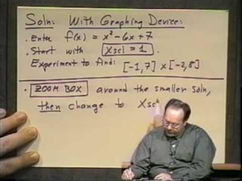 College Algebra - Lecture15 - Gleichungen in einer Variablen