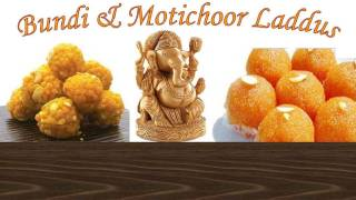 Boondi Laddu&Motichoor Laddus Recipe Video - Bundi Ladoo